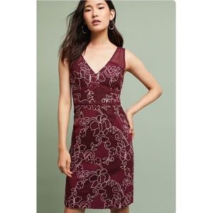 Anthropologie Ariana Lace Column Dress
